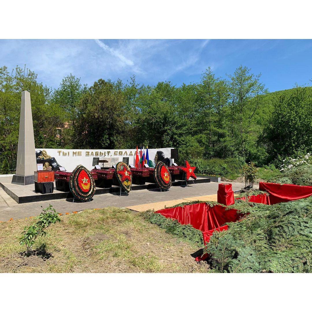 Церемония перезахоронения и передача останков в селе Цыпка Туапсинского района